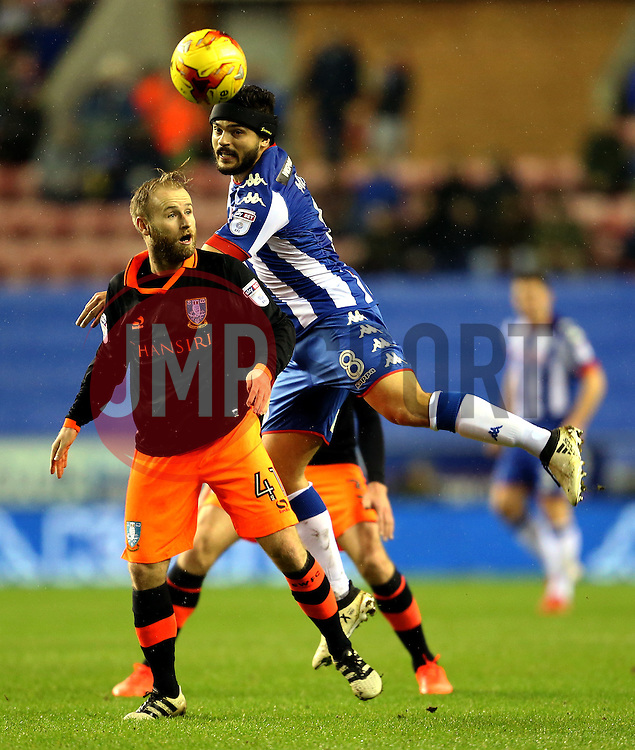 Barry Bannan of Sheffield Wednesday and Sam Morsy of Wigan Athletic - Mandatory by-line: Matt McNulty/JMP - 03/02/2017 - FOOTBALL - DW Stadium - Wigan, England - Wigan Athletic v Sheffield Wednesday - Sky Bet Championship
