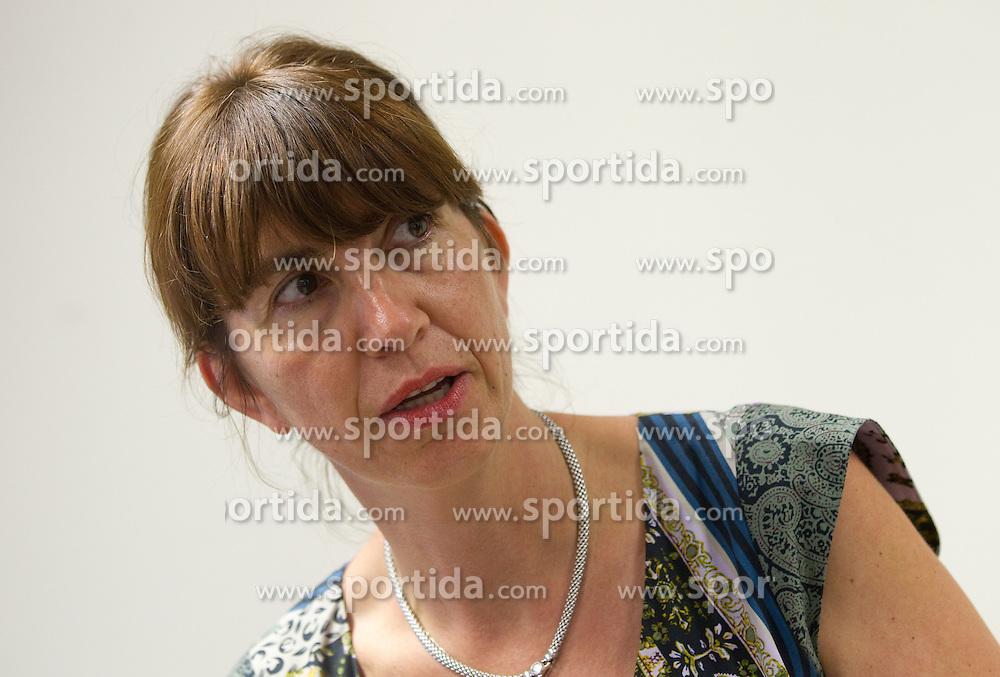 Barbara Kuerner Cad during press conference of Slovenian Men Alpine Ski Team, on August 22, 2011, in SZS, Ljubljana, Slovenia. (Photo by Vid Ponikvar / Sportida)