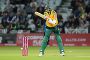 Tom Moores of Nottinghamshire Nottinghamshire Outlaws batting during the Vitality T20 Blast North Group match between Nottinghamshire County Cricket Club and Worcestershire County Cricket Club at Trent Bridge, West Bridgford, United Kingdon on 18 July 2019.