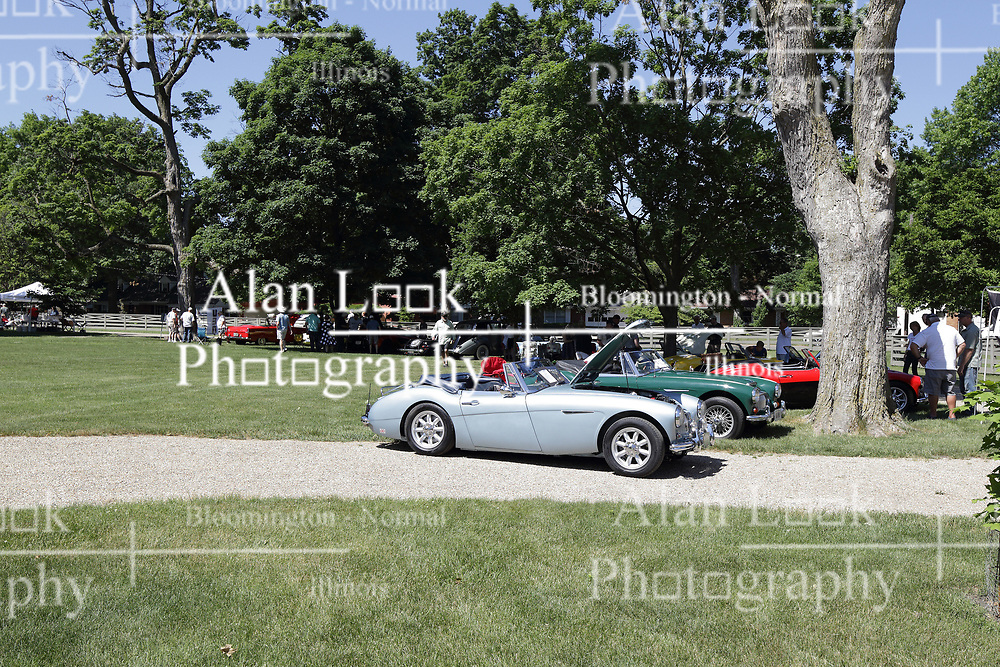 2018 Champagne British Car Festival held on Clover Lawn at David Davis Mansion in Bloomington IL