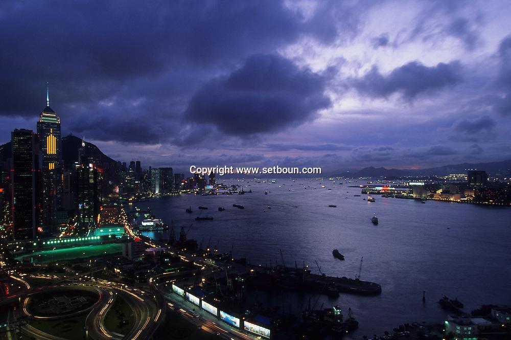 Hong Kong. at dawn and night