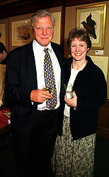 SIR DAVID ATTENBOROUGH and his daughter MISS SUSAN ATTENBOROUGH at a reception in London on 27th October 1999.MYF 7