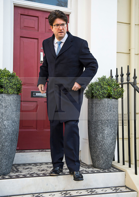 © London News Pictures. 02/03/2016. London, UK. Chairman of the Conservative Party, LORD FELDMAN leaves his London home, on the day that a pre-inquest review in to the death of young Conservative activist Elliott Johnson is due to be heard. Elliott Johnson was found dead on railway tracks in September 2015, shortly after he alleged that he was being bullied by people in the Conservative youth wing.Photo credit: Ben Cawthra/LNP