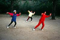 Early morning Tai Chi in Tiantan Park, Beijing, China