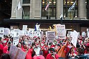 The Chicago Teachers Union and allies rally at CPS Headquarters on September 11, 2012.