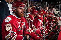 REGINA, SK - MAY 20: Liam Murphy #61 of Acadie-Bathurst Titan sits on the bench against the Regina Pats at the Brandt Centre on May 20, 2018 in Regina, Canada. (Photo by Marissa Baecker/CHL Images)
