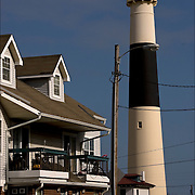 Absecon Lighthouse - Atlantic City Landmark - 3rd tallest in United States..restored historic landmark originally built in 1857, this towering lighthouse rises 150 feet and is recognized by its red middle band.