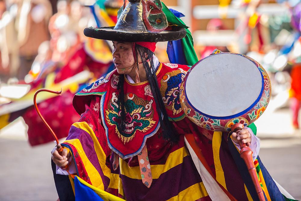 Traditional dancer in Bhutan