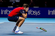 Nicolas Mahut of France celebrates after winning the doubles title  during the Nitto ATP finals at the O2 Arena, London, United Kingdom on 17 November 2019.