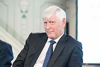 06 JUN 2018, BERLIN/GERMANY:<br /> Dr. Rolf Martin Schmitz, Vorstandsvorsitzender RWE AG, 27. BBH-Energiekonferenz &quot;Die Energiewende&quot;, Franzoesische Friedrichstadtkirche<br /> IMAGE: 20180606-01-139