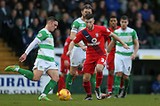 York City forward, on loan from Middlesbrough, Bradley Fewster  during the Sky Bet League 2 match between Yeovil Town and York City at Huish Park, Yeovil, England on 2 January 2016. Photo by Simon Davies.