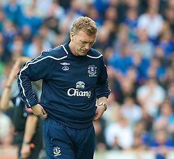 STOKE, ENGLAND - Sunday, September 14, 2008: Everton's manager David Moyes against Stoke City during the Premiership match at the Britannia Stadium. (Photo by David Rawcliffe/Propaganda)