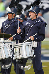 September 17, 2010; Reno, NV, USA; Members of the Nevada Wolf Pack band perform before the game against the California Golden Bears at Mackay Stadium. Nevada defeated California 52-31.