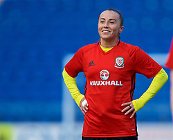 CARDIFF, WALES - Thursday, November 23, 2017: Wales' Natasha Harding during a training session ahead of the FIFA Women's World Cup 2019 Qualifying Round Group 1 match between Wales and Kazakhstan at the Cardiff City Stadium. (Pic by David Rawcliffe/Propaganda)