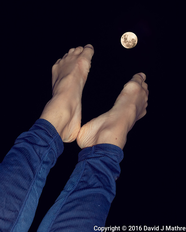 Chloé Reaching for the Moon with her Feet. Image taken with a Leica T camera and 55-135 mm lens