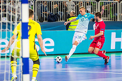 Alen Fetic of Slovenia during futsal match between Slovenia and Serbia at Day 1 of UEFA Futsal EURO 2018, on January 30, 2018 in Arena Stozice, Ljubljana, Slovenia. Photo by Ziga Zupan / Sportida