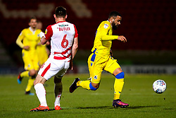 Alex Jakubiak of Bristol Rovers goes past Andrew Butler of Doncaster Rovers - Mandatory by-line: Robbie Stephenson/JMP - 26/03/2019 - FOOTBALL - Keepmoat Stadium - Doncaster, England - Doncaster Rovers v Bristol Rovers - Sky Bet League One