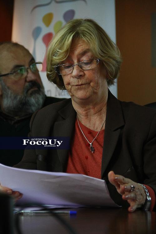 Montevideo, 9 de mayo. Instituto Nacional de Derechos Humanos.<br /> Mirta Guianze dando a conocer el informe anual.<br /> Foto Gaston Britos Agencia Foco