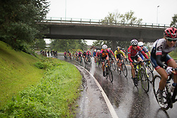 Ida Erngren (SWE) of Team Crescent rides in the heavy rain during the 76,1 km first stage of the 2016 Ladies' Tour of Norway women's road cycling race on August 12, 2016 between Halden and Fredrikstad, Norway. (Photo by Balint Hamvas/Velofocus)