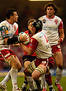 Cardiff, WALES.  Biarritz's left Damien Traille [left] and Thomas Lievremont, during the  2006 Heineken Cup Final,  Millennium Stadium,  between Biarritz Olympique and Munster,  20.05.2006. © Peter Spurrier/Intersport-images.com,  / Mobile +44 [0] 7973 819 551 / email images@intersport-images.com.   [Mandatory Credit, Peter Spurier/ Intersport Images].14.05.2006   [Mandatory Credit, Peter Spurier/ Intersport Images].