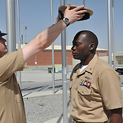 KABUL -- 9/14/12 --  Chiefs  Induction Pinning Ceremony for ATC (SEL) and LSC (SEL) Nathan Smith.  U.S. Navy Photo by Mass Communication Specialist Justin L. Rouse  (RELEASED)