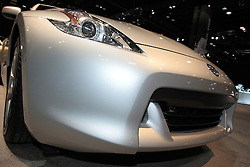 11 February 2009: 2009 NISSAN 370Z: The all-new ?09 Nissan 370Z, the first full redesign of the iconic Nissan Z since its reintroduction as a 2003 model, is offered in two models: 370Z and 370Z Touring. Nearly every piece and component of the 370Z has been rethought or redesigned (compared to the previous 350Z) ? a shorter wheelbase, greater use of lightweight body materials, larger engine, new 7-speed automatic transmission, an available world?s first synchronized downshift rev matching 6-speed manual transmission, a new high quality interior design and new available technology features. Performance has been enhanced with a more rigid body structure, better power-to-weight ratio and a new 332-horsepower 3.7-liter DOHC V6 engine with Variable Valve Event and Lift Control..The Chicago Auto Show is a charity event of the Chicago Automobile Trade Association (CATA) and is held annually at McCormick Place in Chicago Illinois.