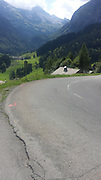 Thursday 21st August 2014: Landscape on the climb of the Col de Colombiere.