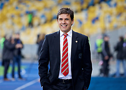 KIEV, UKRAINE - Easter Monday, March 28, 2016: Wales' manager Chris Coleman before the International Friendly match against Ukraine at the NSK Olimpiyskyi Stadium. (Pic by David Rawcliffe/Propaganda)