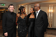 STEVE FINAN;; DENISE LEWIS;  MYRELLA MOSES, ; ED MOSES; The Cartier Racing Awards. The Ballroom, Dorchester hotel. Park Lane. London. 15 November 2011. <br /> <br />  , -DO NOT ARCHIVE-© Copyright Photograph by Dafydd Jones. 248 Clapham Rd. London SW9 0PZ. Tel 0207 820 0771. www.dafjones.com.
