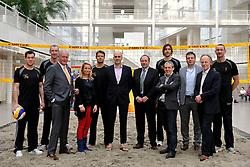 22-03-2012 VOLLEYBAL: PERSCONFERENTIE WK BEACHVOLLEYBAL 2015: DEN HAAG<br /> Het WK beachvolleybal 2015 wordt door de FIVB toegekend aan Nederland. In het stadhuis van Den Haag werd de pers op de hoogte gebracht <br /> ©2012-FotoHoogendoorn.nl