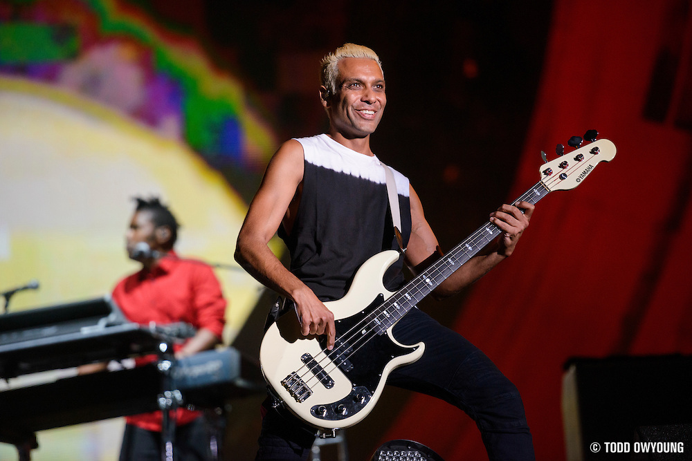 No Doubt performing at the Global Citizen Festival 2014 in Central Park in New York City on September 27, 2014.