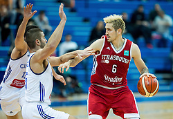 Paul Lacombe of SIG Strassbourg during basketball match between KK Cibona Zagreb (CRO) and SIG Strasbourg in Round #6 of FIBA Champions League 2016/17, on November 23, 2016 in Drazen Petrovic Basketball center, Zagreb, Croatia. Photo by Vid Ponikvar / Sportida