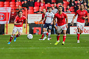 Charlton Athletic midfielder Conor Gallagher (11) chases the ball during the EFL Sky Bet Championship match between Charlton Athletic and Preston North End at The Valley, London, England on 3 November 2019.