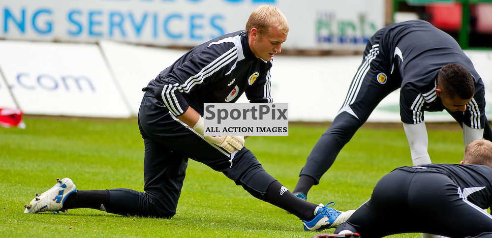 Scotland U21 Training Session East End Park 13 August 2012..Goalkeeper Mark Ridgers warms up...(c) Craig Brown | StockPix.eu