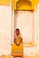 Girl at the Amber Fort, Amber (near Jaipur), Rajasthan, India