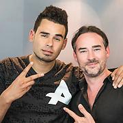 NLD/Hilversum/20140516 - Dj Afrojack voor één dag programmadirecteur Radio 538, Afrojack en Jeroen Nieuwenhuize