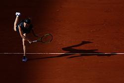 May 28, 2019 - Paris, France - Romania's Simona HALEP walks during the women's singles first round of the French Open tennis tournament against Australia's Ajla TOMLJANOVIC at Roland Garros in Paris, France on May 28, 2019. (Photo by Mehdi Taamallah) (Credit Image: © Mehdi Taamallah/NurPhoto via ZUMA Press)