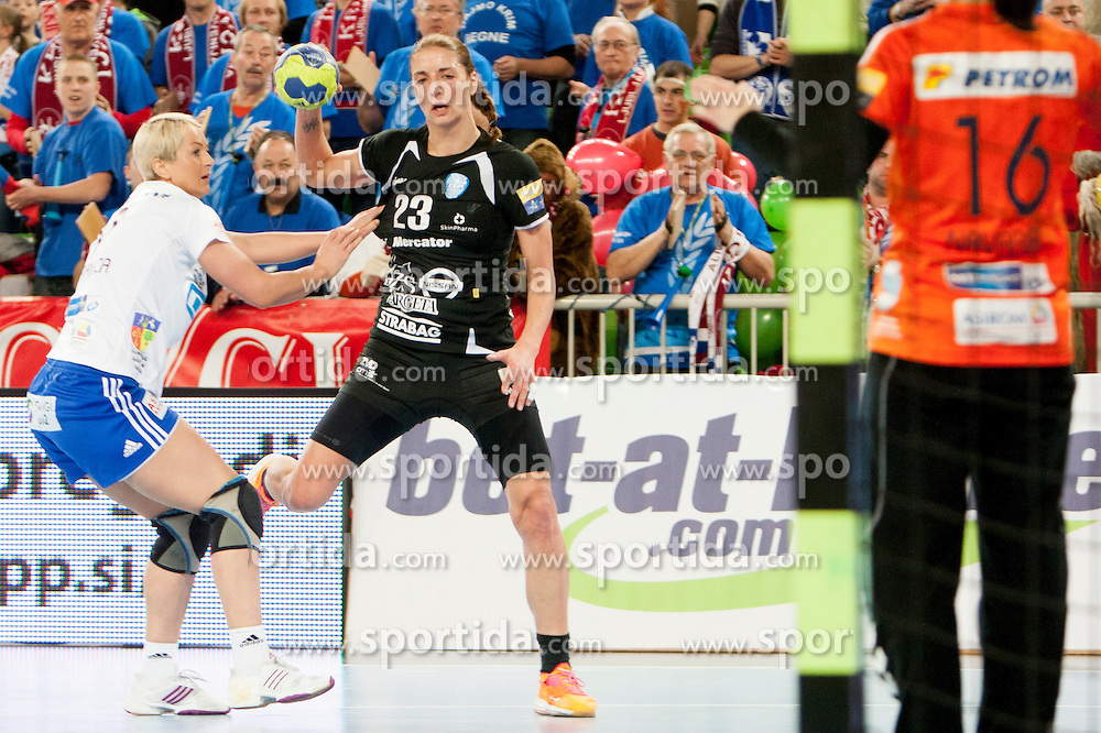 Penezic Andrea of RK Krim Mercator during handball match between RK Krim Mercator (SLO) and Oltchim Rm. Valcea (ROM) in 2th Round of EHF Women's Champions League 2012/13 on Februar 10, 2013 in Arena Stozice, Ljubljana, Slovenia. (Photo By Urban Urbanc / Sportida)