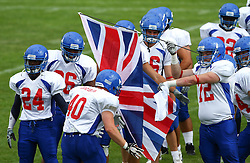 27.07.2010, Wetzlar Stadion, Wetzlar, GER, Football EM 2010, Team France vs Team Great Britain, im Bild Einmarsch von Dale Powell, (Team Great Britain, LB, #40),  EXPA Pictures © 2010, PhotoCredit: EXPA/ T. Haumer