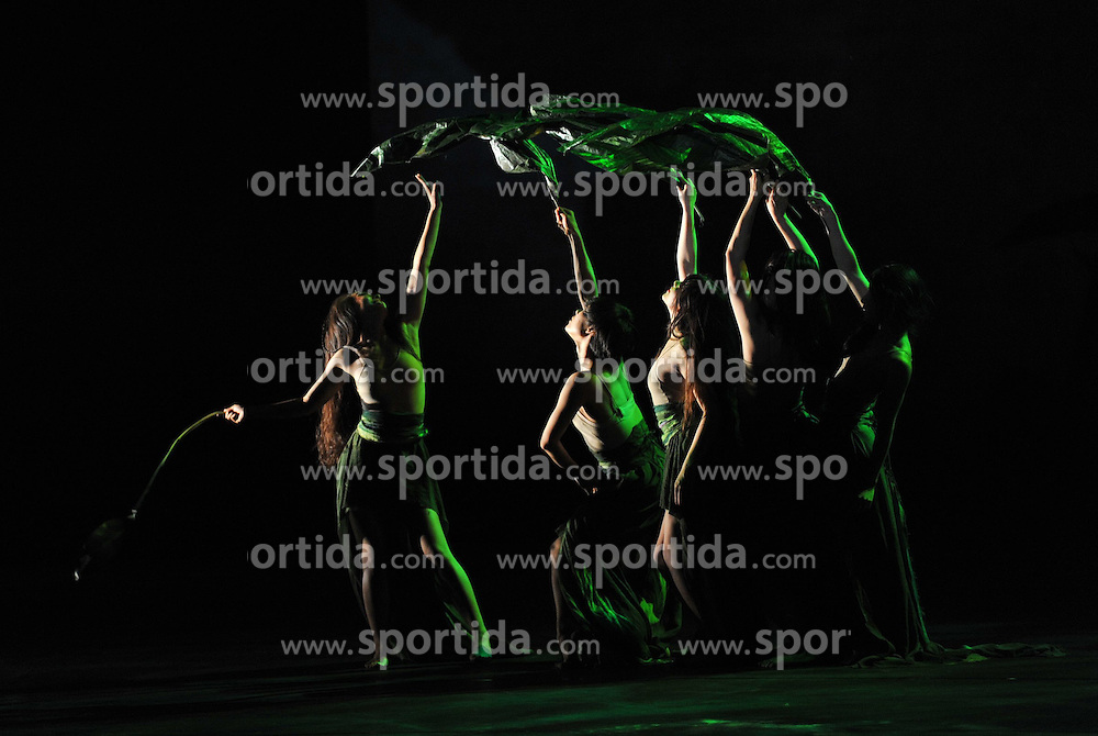 Actors of the Beijing Modern Dance Company (BMDC) perform in a theatre in Beijing, capital of China, June 12, 2015. The BMDC gave a performance here on Friday marking the 20th anniversary of its founding. EXPA Pictures &copy; 2015, PhotoCredit: EXPA/ Photoshot/ Li Yan<br /> <br /> *****ATTENTION - for AUT, SLO, CRO, SRB, BIH, MAZ only*****