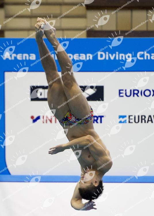 KVASHA Illya Ukraine UKR<br /> 1 m. springboard Men<br /> Arena European Diving Championships<br /> 18-23 June 2013 Rostock GER Germany<br /> Day 02 <br /> Photo G. Scala/Inside/deepbluemedia.eu