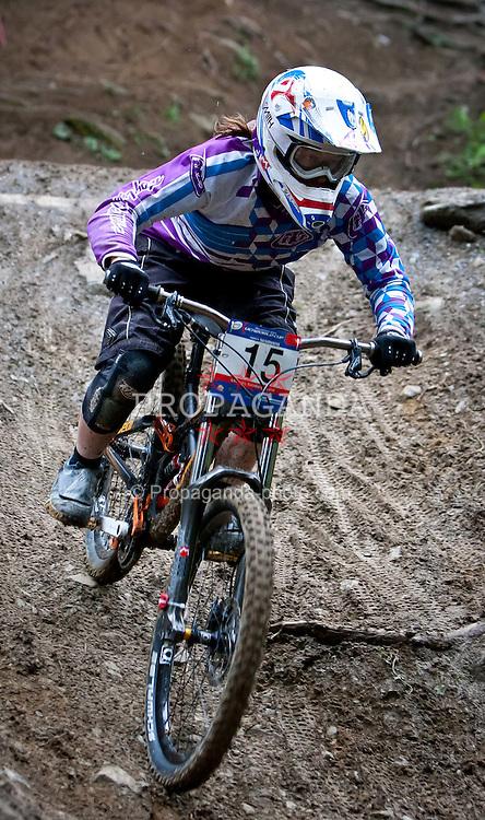 12.06.2011, Bikepark, Leogang, AUT, UCI MOUNTAINBIKE WORLDCUP, LEOGANG, im Bild Downhill Worldcup GATTO Micayla, CAN // during the UCI MOUNTAINBIKE DOWNHILL WORLDCUP, LEOGANG, AUSTRIA, 2011-06-12, EXPA Pictures © 2011, PhotoCredit: EXPA/ J. Feichter
