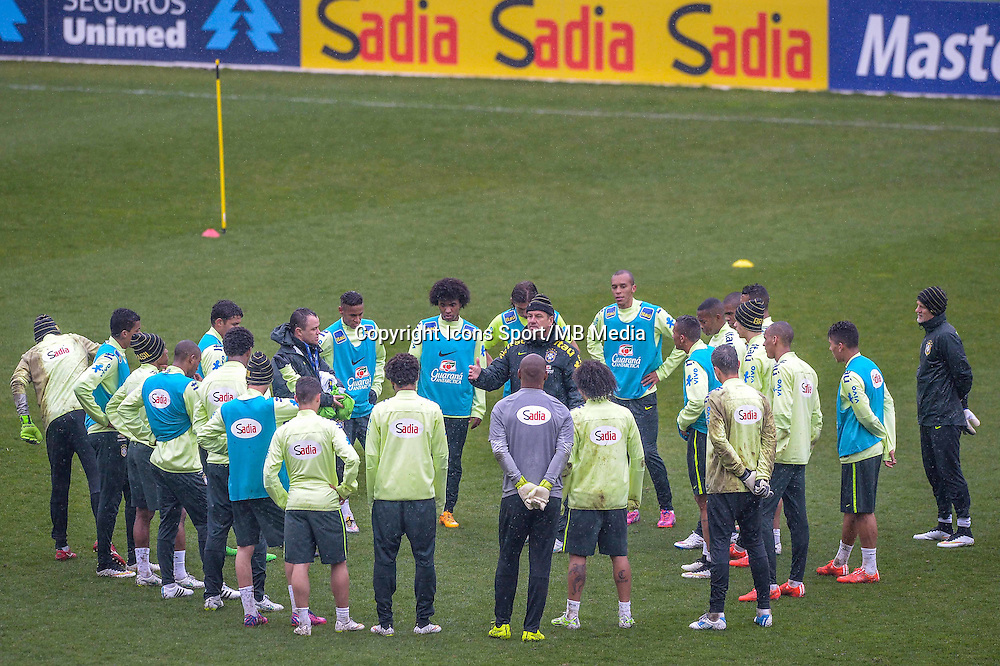 Dunga / groupe Bresil - 24.03.2015 - Football - Entrainement Bresil -Stade Charlety-Paris<br /> Photo : Andre Ferreira / Icon Sport