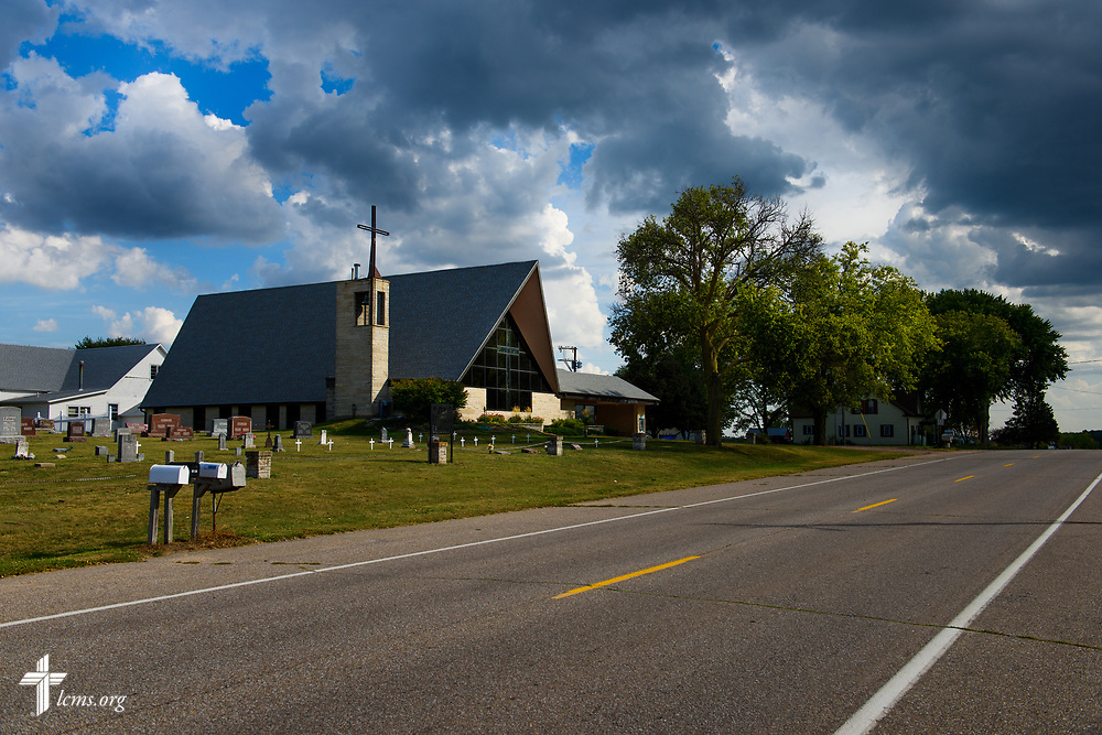 Exterior photograph of Zion Lutheran Church, Worms, Neb., on Saturday, Sept. 23, 2017. LCMS Communications/Erik M. Lunsford