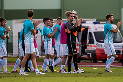 Gregor Sorcan with players of Slovenia during football match between Slovenia and Kazahstan in Qualifying round for European Under-21 Championship 2019, on September 11, 2018 in Mestni Stadium Ptuj, Slovenija, 2018. Photo Grega Valancic