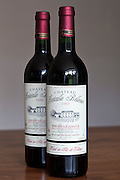 Bottles of French Bordeaux wine, Chateau Fontcaille Bellevue 2003 Grand Vin de Bordeaux and Bordeaux Superieur,  France