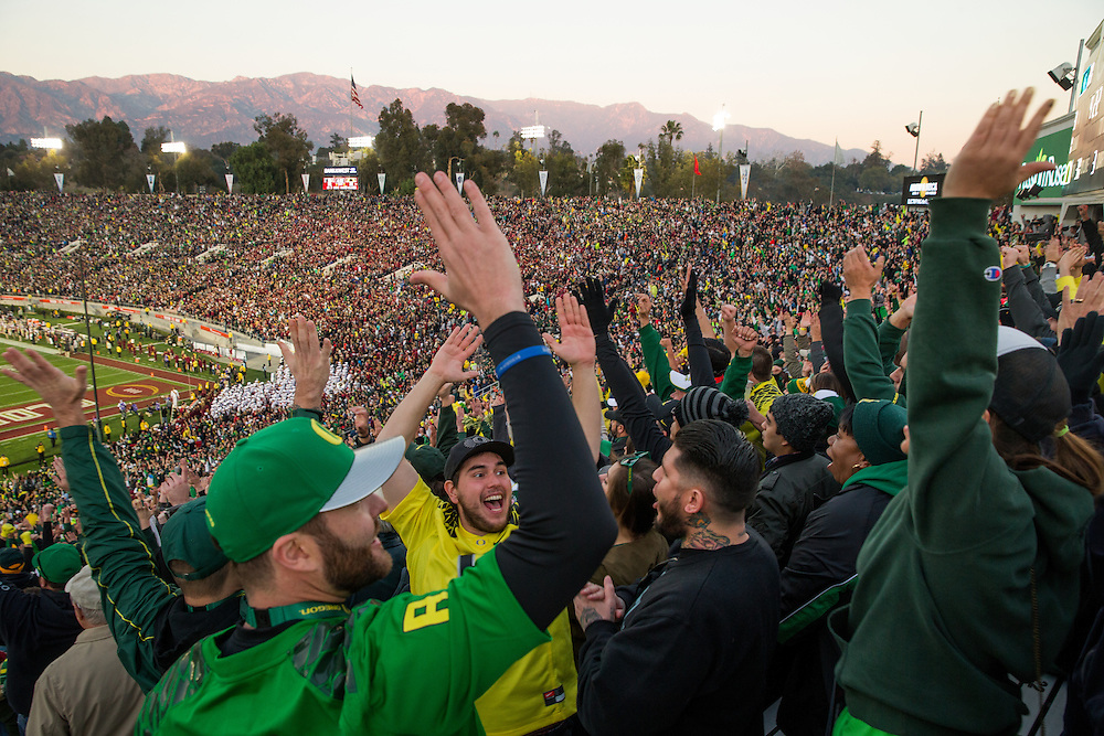 Photographed at the 2015 Rose Bowl Game in Pasadena, California, on January 1, 2015. (Photograph ©2015 Darren Carroll)