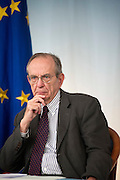 Rome sep 18th 2015, cabinet meeting press conference. In the picture Pier Carlo Padoan