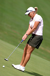 30 Aug 2005<br /> <br /> Emilee Klein putting on the 1st hole.<br /> <br /> State Farm Classic, LPGA Golf Tournament, Tuesday Practice, The Rail Golf Course, Springfield, IL