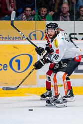 22.10.2016, Ice Rink, Znojmo, CZE, EBEL, HC Orli Znojmo vs Dornbirner Eishockey Club, 13. Runde, im Bild v.l. Radek Cip (HC Orli Znojmo) Kevin Schmidt (Dornbirner) // during the Erste Bank Icehockey League 13th round match between HC Orli Znojmo and Dornbirner Eishockey Club at the Ice Rink in Znojmo, Czech Republic on 2016/10/22. EXPA Pictures © 2016, PhotoCredit: EXPA/ Rostislav Pfeffer